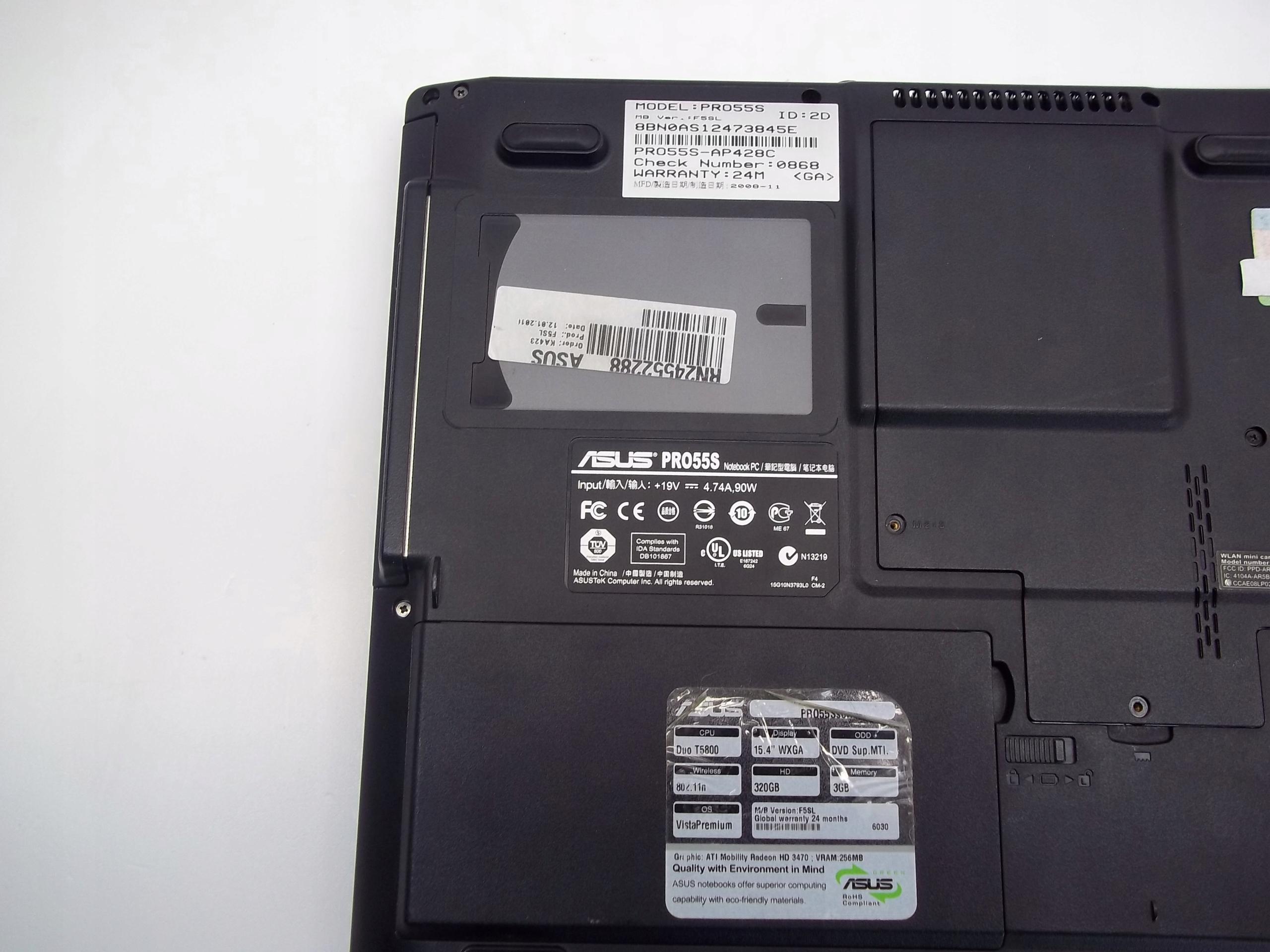 Купить Laptop Asus Pro55S 15,4