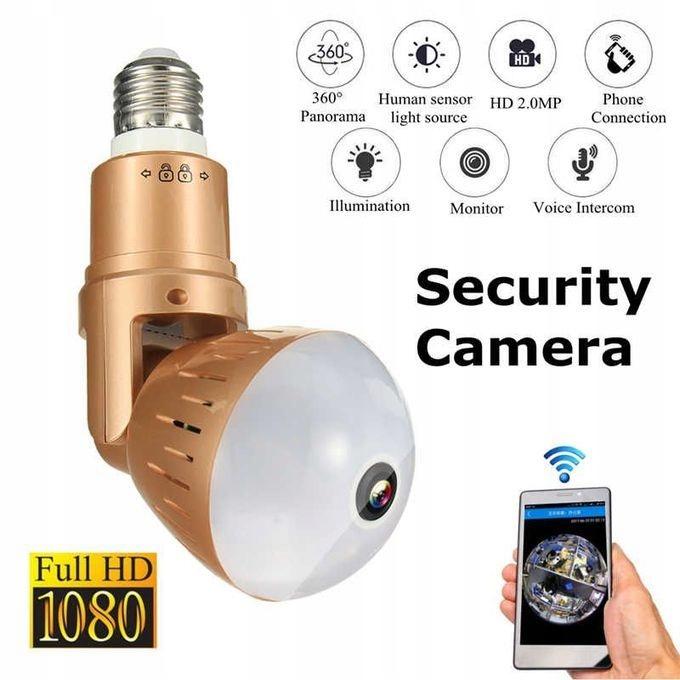 Kamera WiFi monitoring 360 Żarówka LED audio 1080P