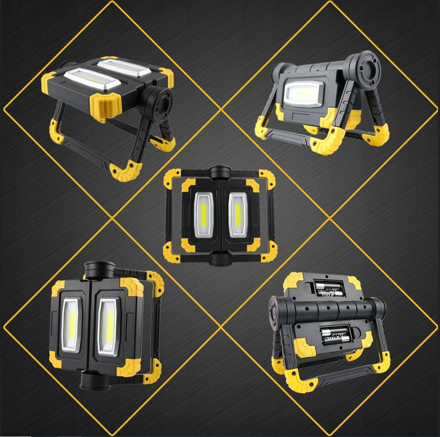Funkcjonalna LAMPA ROBOCZA LED AKUMULATOROWA Strumień świetlny 750 lm