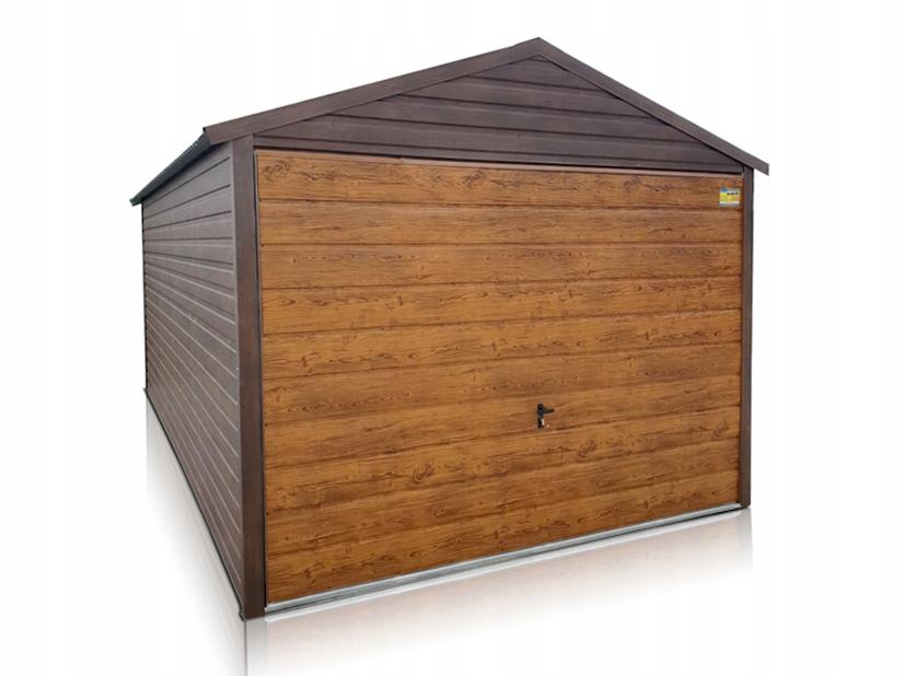 Garaż blaszany drewnopodobny blaszak 3x5 profil