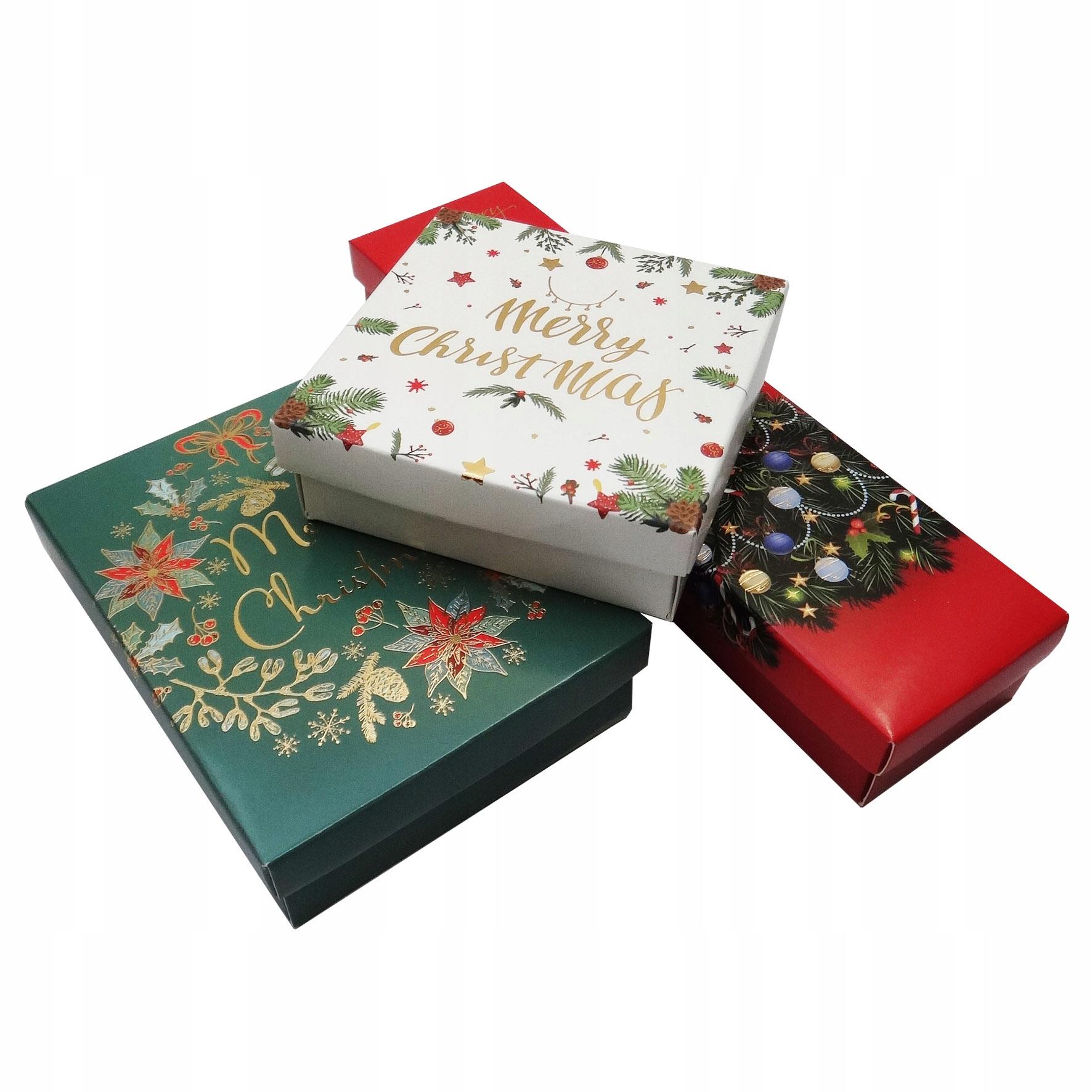 Набор новогодней подарочной коробки 3 шт.