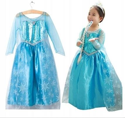 KOSTÝM Karmawałowy kostým ELSA Frozen. 92-98 cm