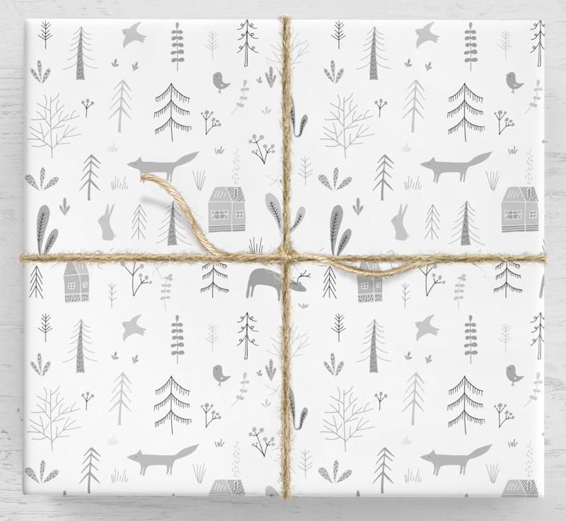 Zimný darčekový baliaci papier Scandi vám to prezradí