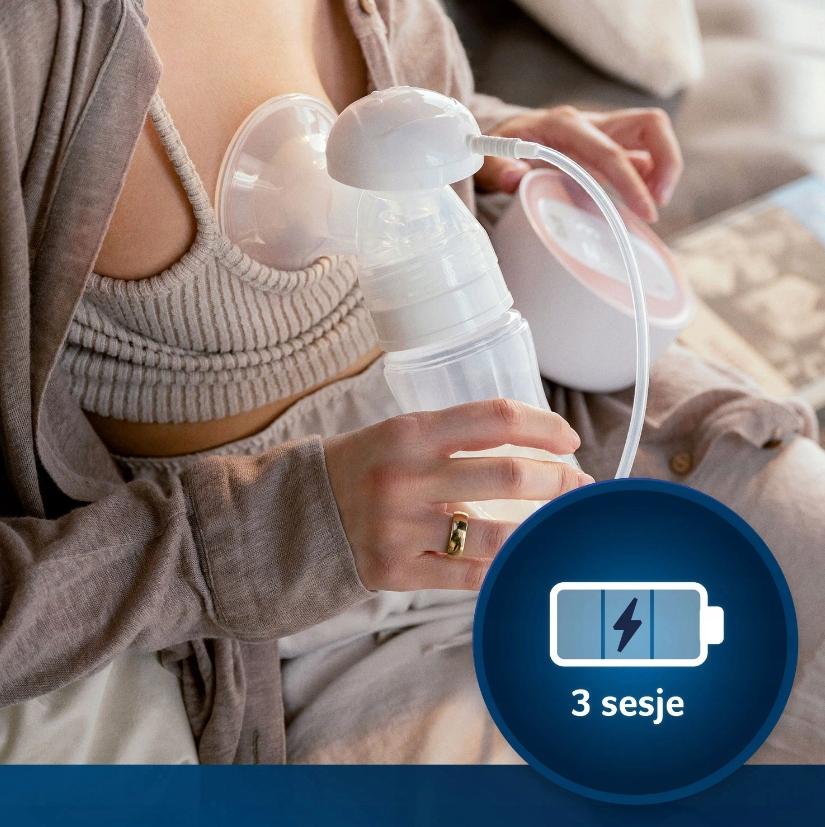 LOVI LAKTATOR ELEKTRYCZNY PROLACTIS 3D SOFT 50/050 Elementy zestawu laktator butelka smoczek wkładki laktacyjne pojemnik na mleko torba na laktator dodatkowa nakładka masująca podstawka pod butelkę inne