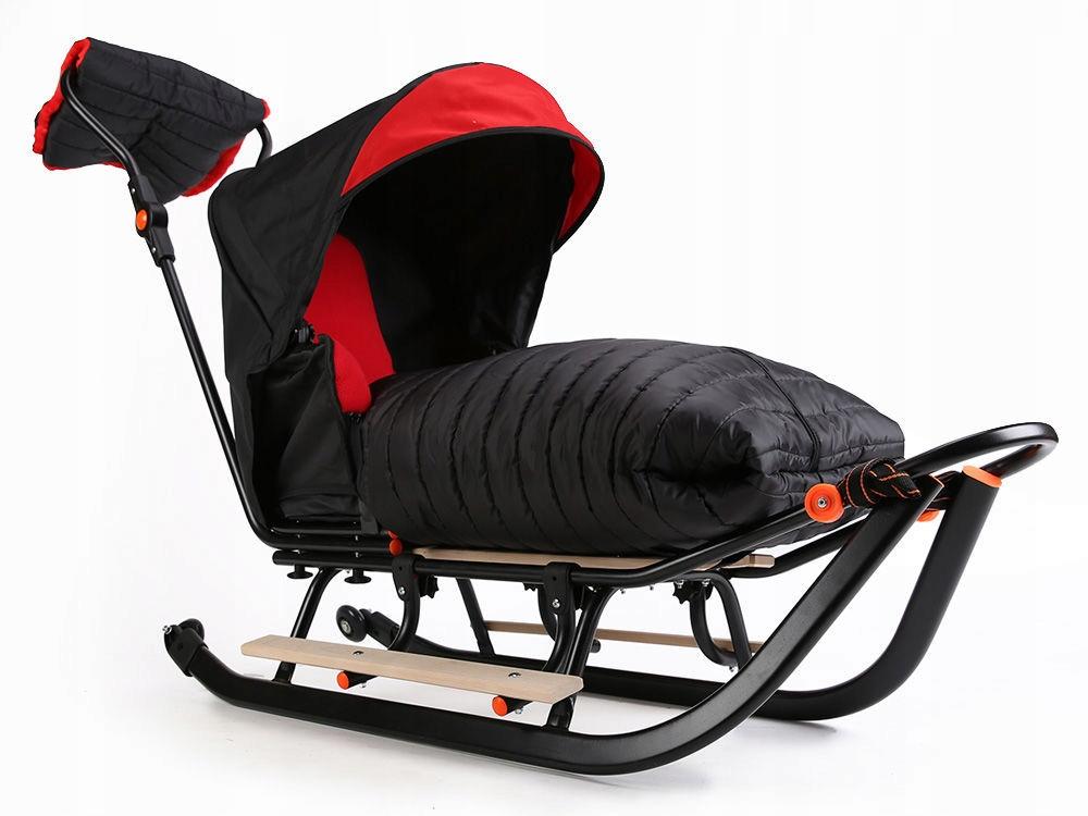 Санки FULL спальный мешок 3в1 + колеса + подножки + муфта