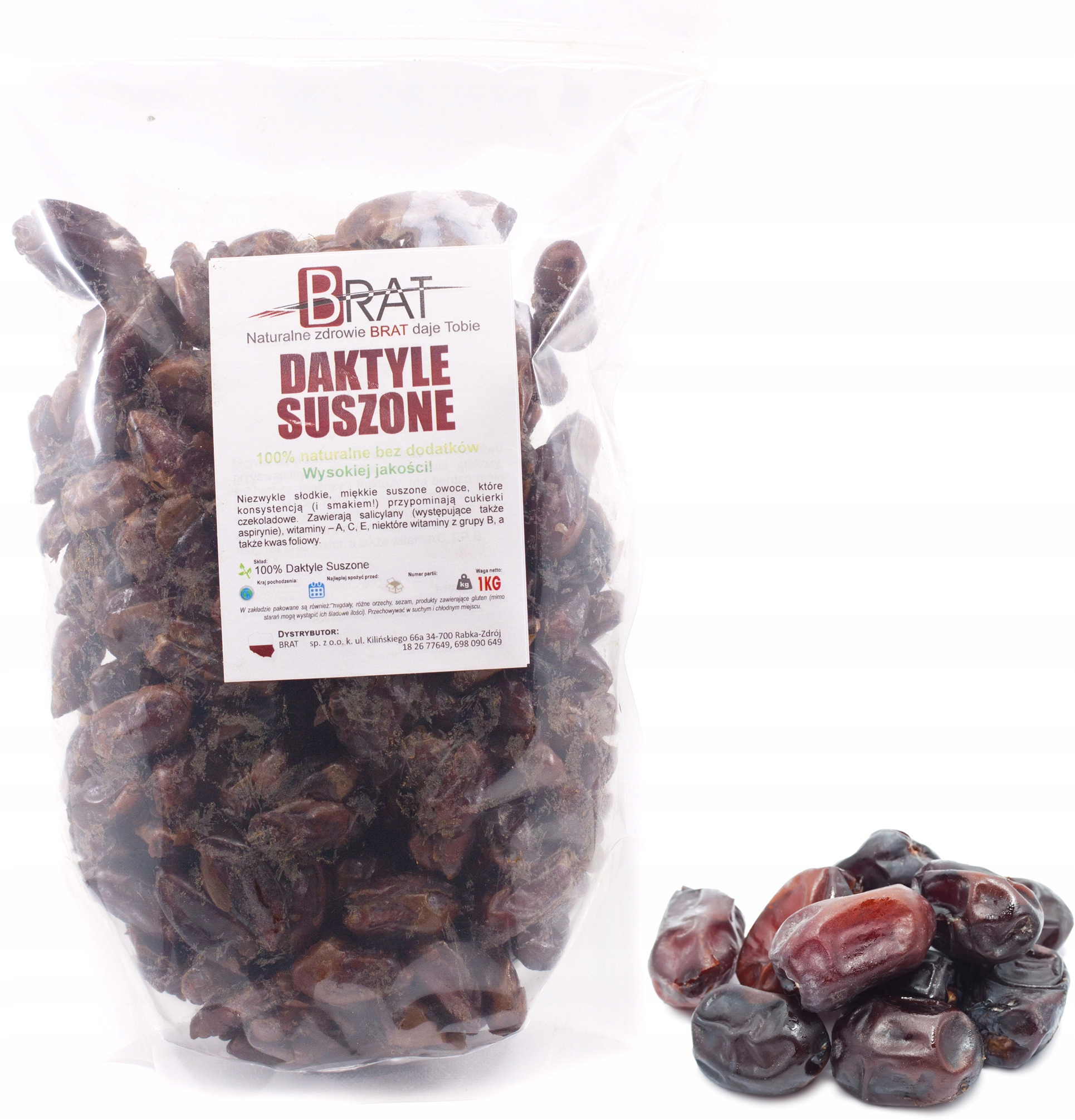 Item DRIED dates pitted 1kg naturally SWEET