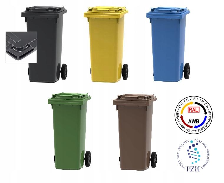 Набор из 5 контейнеров-корзин 120л ESE segregation