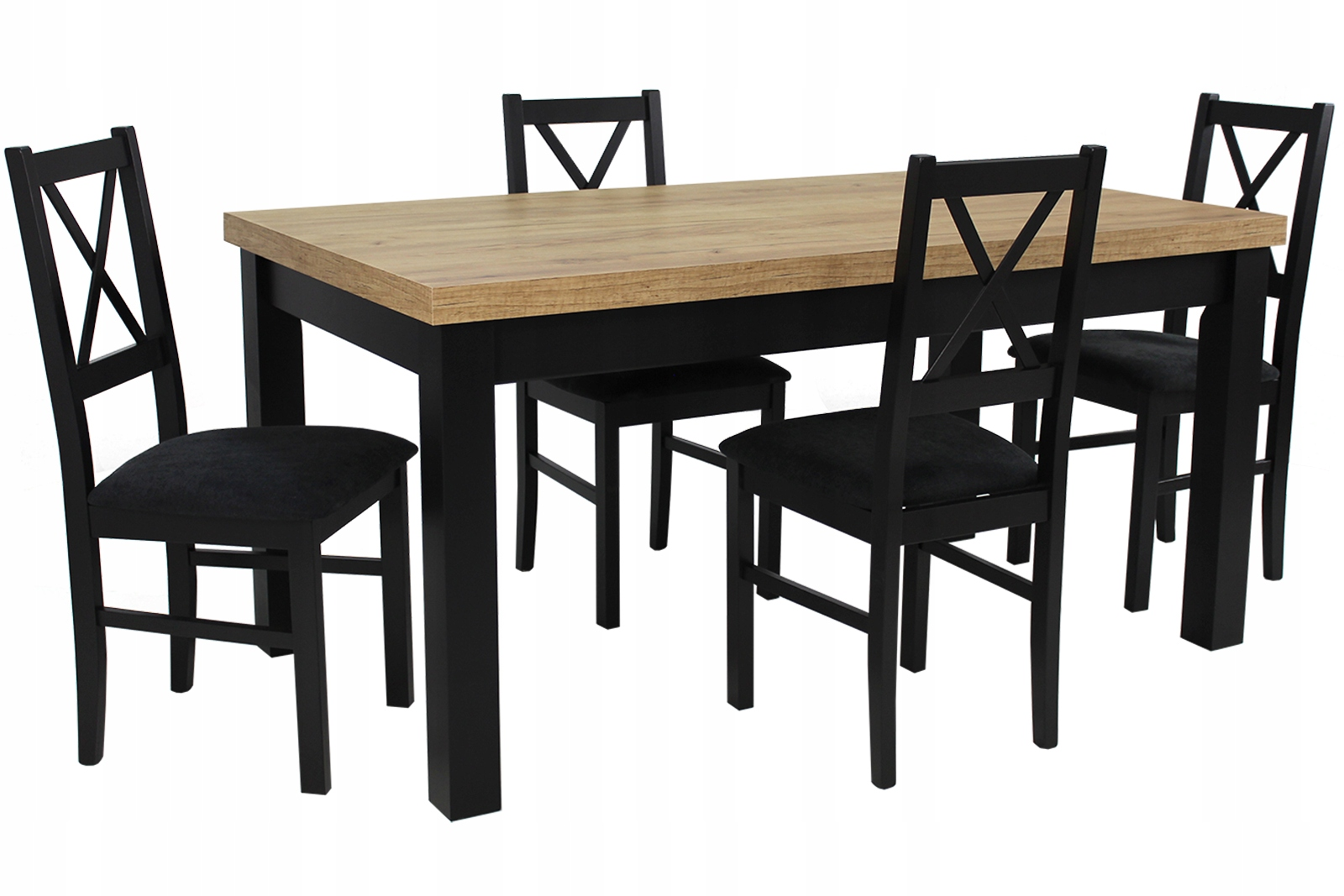 ZESTAW W STYLU LOFT Stół rozkładany z 4 krzesłami