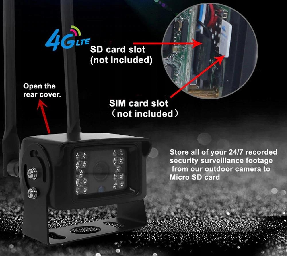 mini KAMERA 3G 4G LTE NA KARTE SIM PINHOLE ip66 Typ kamery kolorowa na podczerwień