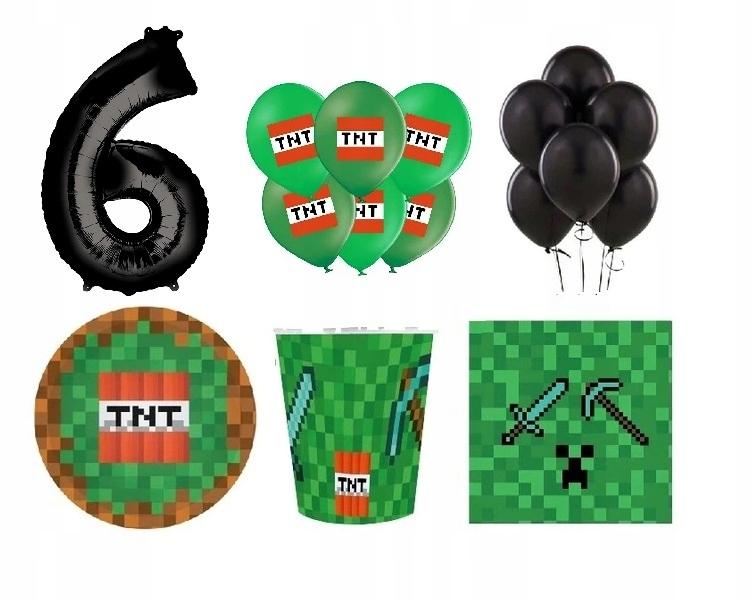 Купить Набор из 6 тарелок с воздушными шарами на день рождения Майнкрафт на Otpravka - цены и фото - доставка из Польши и стран Европы в Украину.
