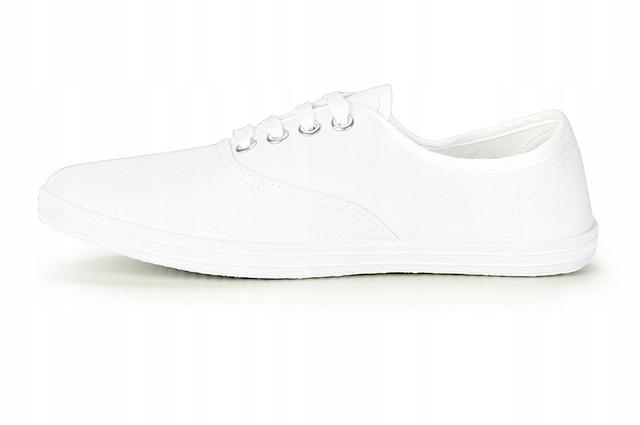 Buty sportowe TRAMPKI tenisówki damskie Białe