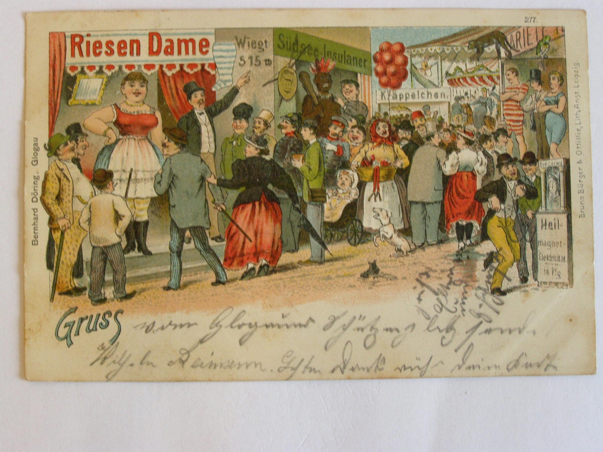 Głogów Glogau Bernhard Doring festyn 1905 lit