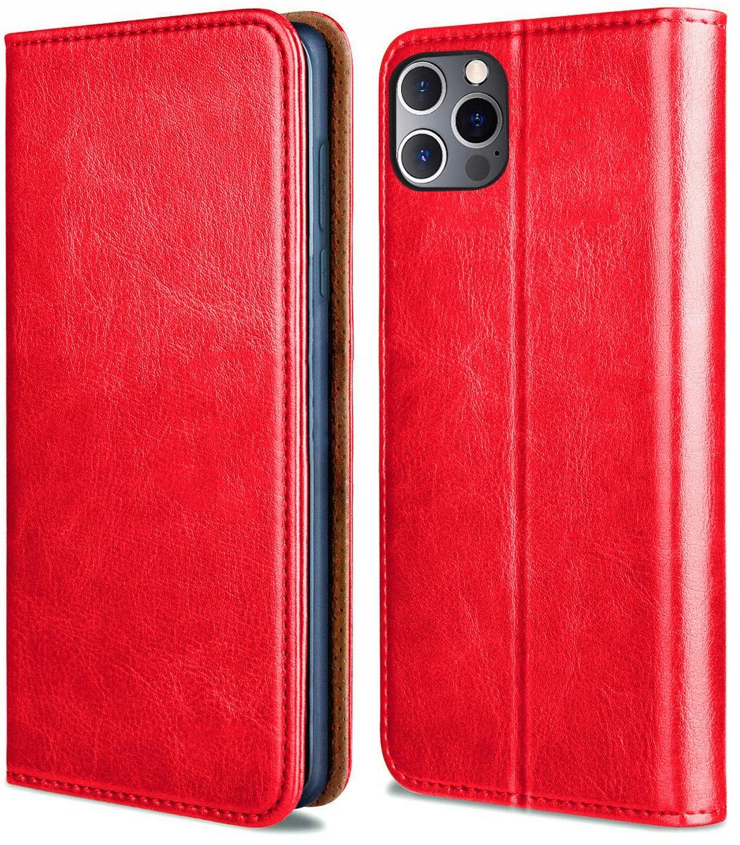 Etui do iPhone 12 Pro Skórzane Portfel + Szkło 9H