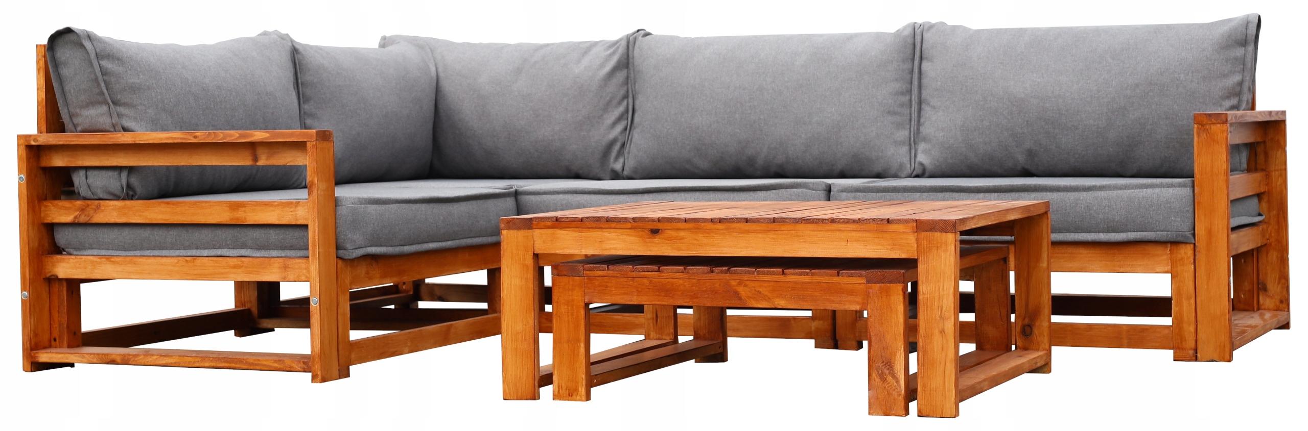 Sada záhradného nábytku z dreva 4-SEATOR + 2 LAVICE výrobca TOTO