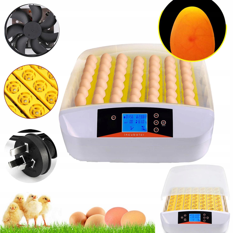 Inkubator Automatyczny Do 56 Jaj Z Owoskopem 220V