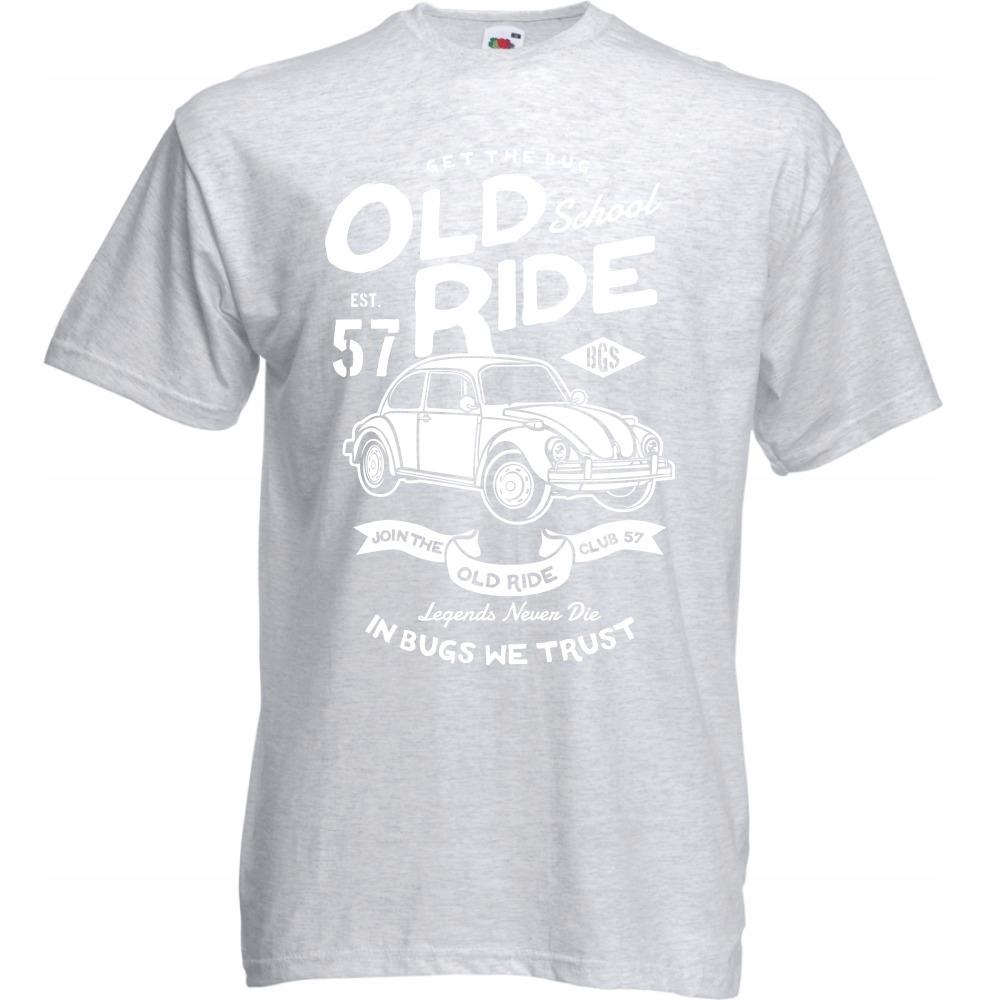 Koszulka samochód garbus klasyczny M ash szara