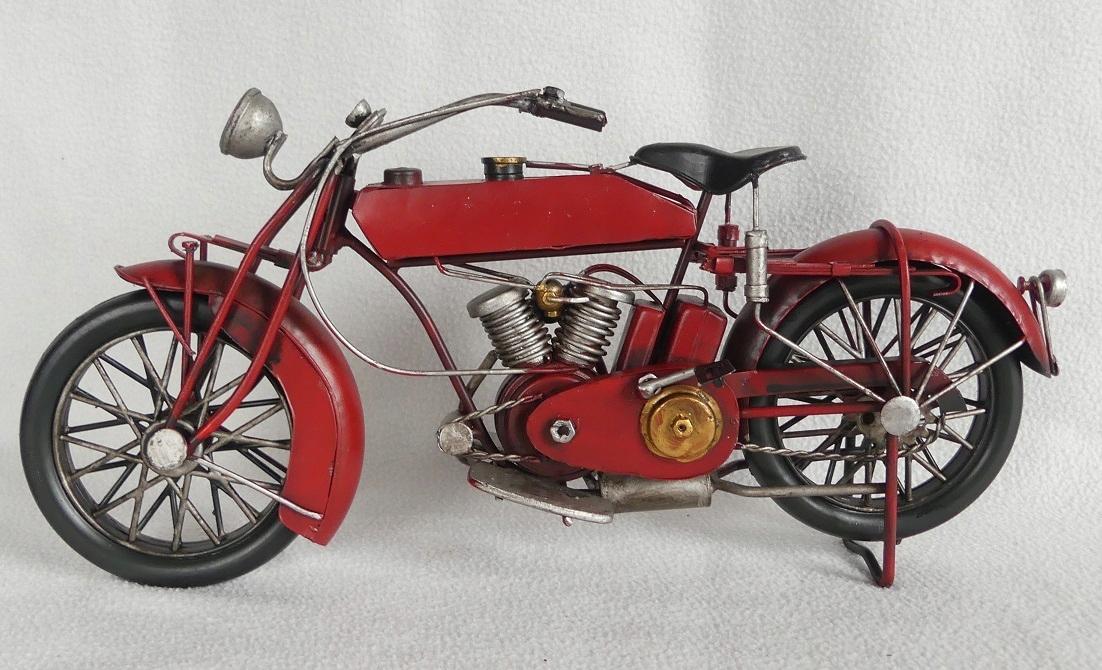 Kovové RETRO MOTOCYKL 31,5 cm vozidlo