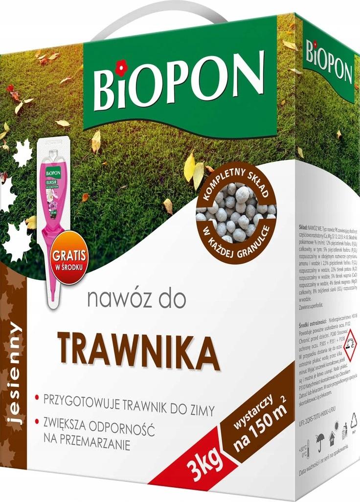 Удобрение БИОПОН ОСЕНЬ гранулированное для ГАЗОНА 3 кг