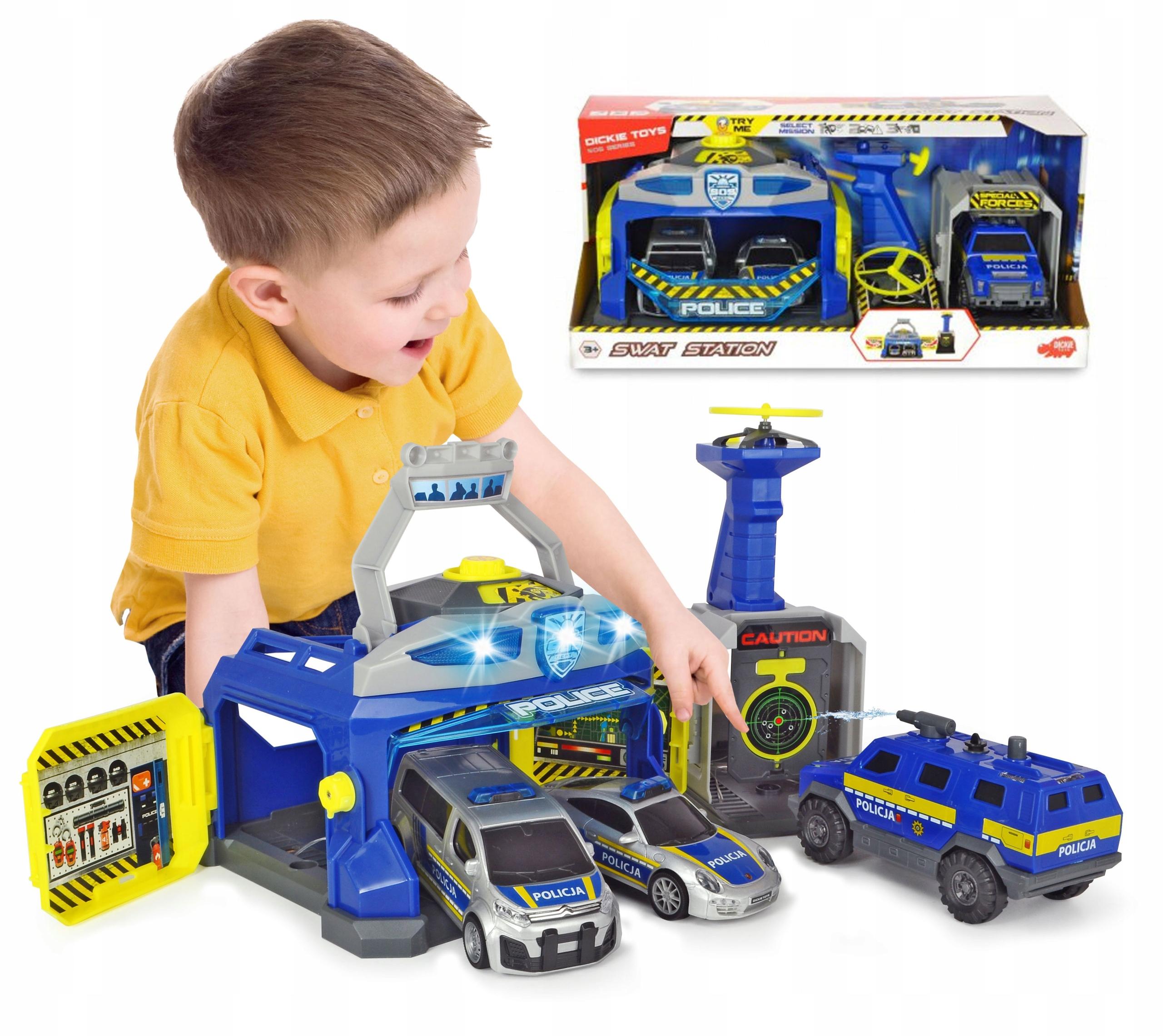 Dickie SOS Police SWAT Unit 3 Cars