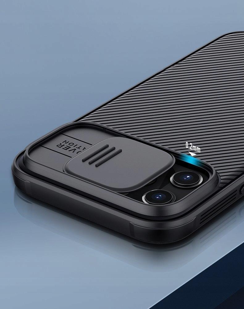 Etui z Osłoną Aparatu + Szkło do iPhone 12 Pro Max Kolor czarny