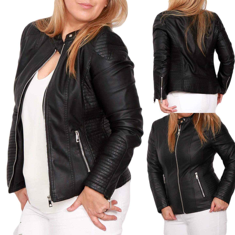 Купить Черная кожаная байкерская куртка Black Biker 1369 на Otpravka - цены и фото - доставка из Польши и стран Европы в Украину.