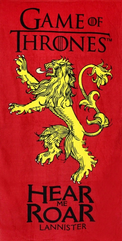 Uterák hra o Tron House Lannister License 70x140