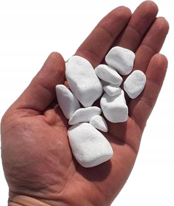 Snow-Biely kamienkový kameň pre záhradu 30 kg! ! !