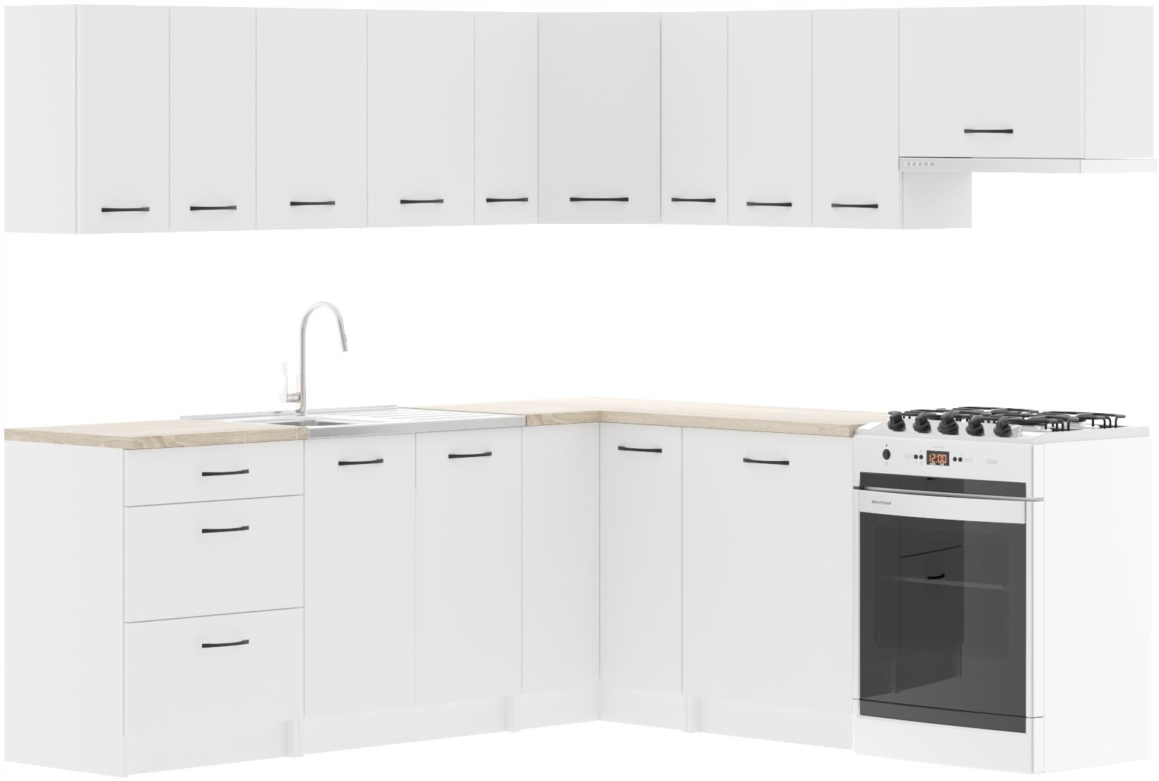 Rhodos White + Столешница Кухонный гарнитур
