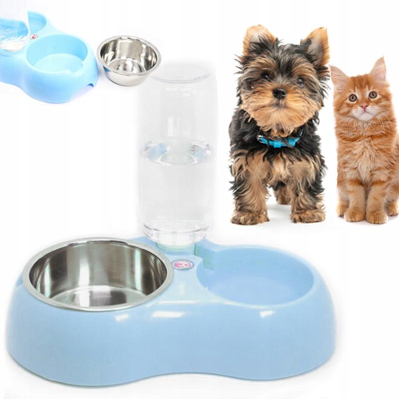 ДВОЙНАЯ ЧАША ДЛЯ ДИСПЕНСАТОРА мисок для собак и кошек