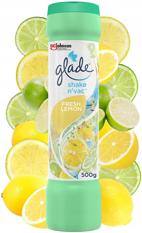Пудра для освежения ковров Glade Lemon UK