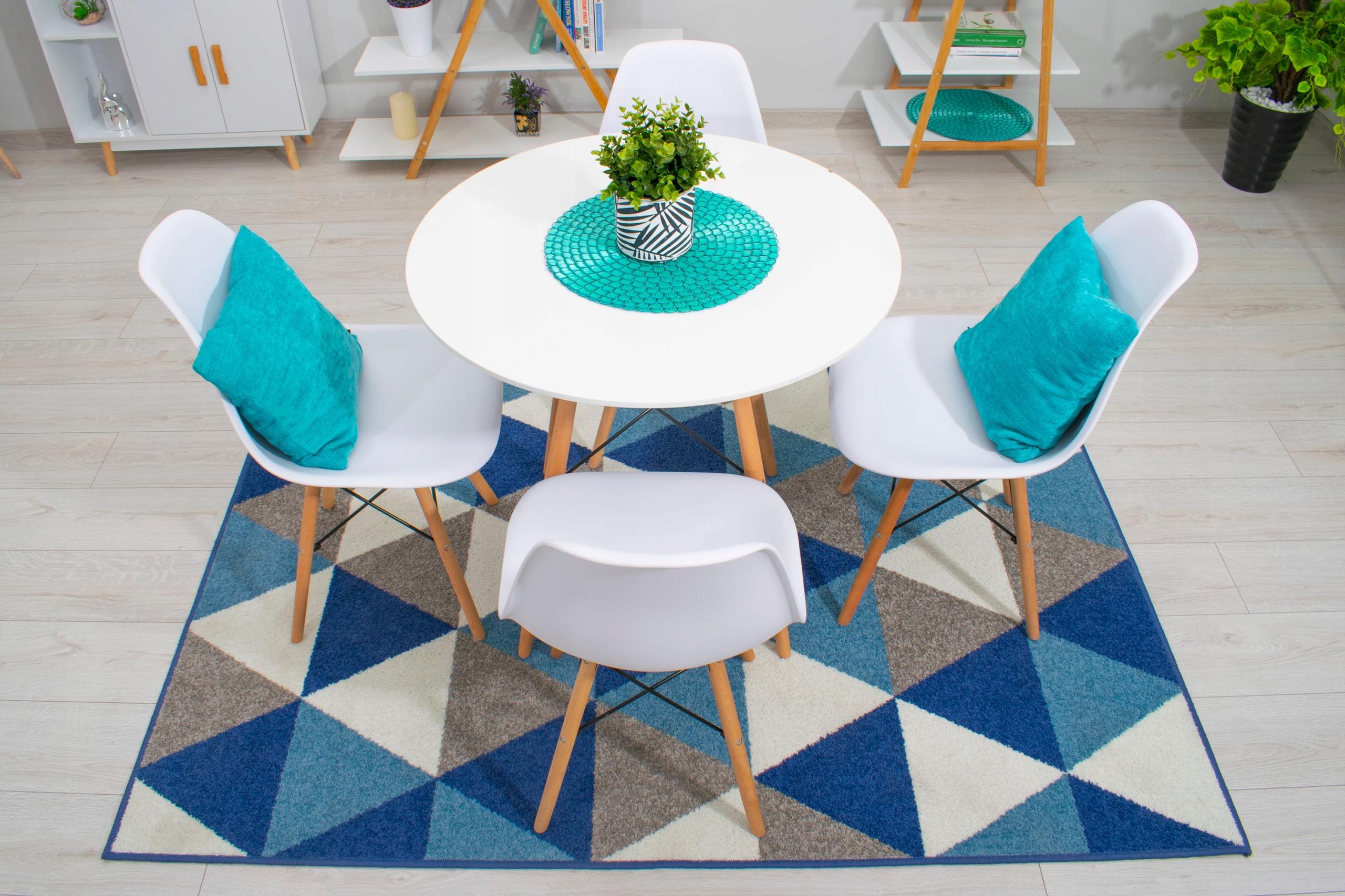 Stół + 4 Krzesła Nowoczesny Skandynawski Styl DSW Liczba krzeseł w zestawie 4