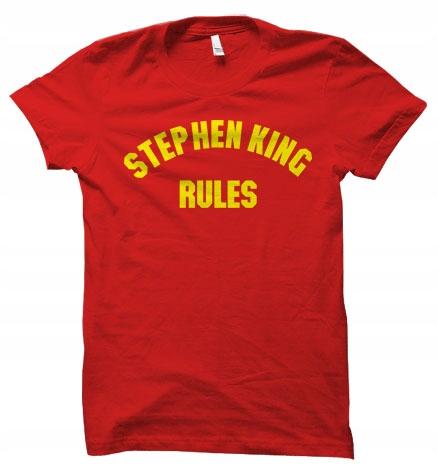 Stephen King Rules książki koszulka damskaXL