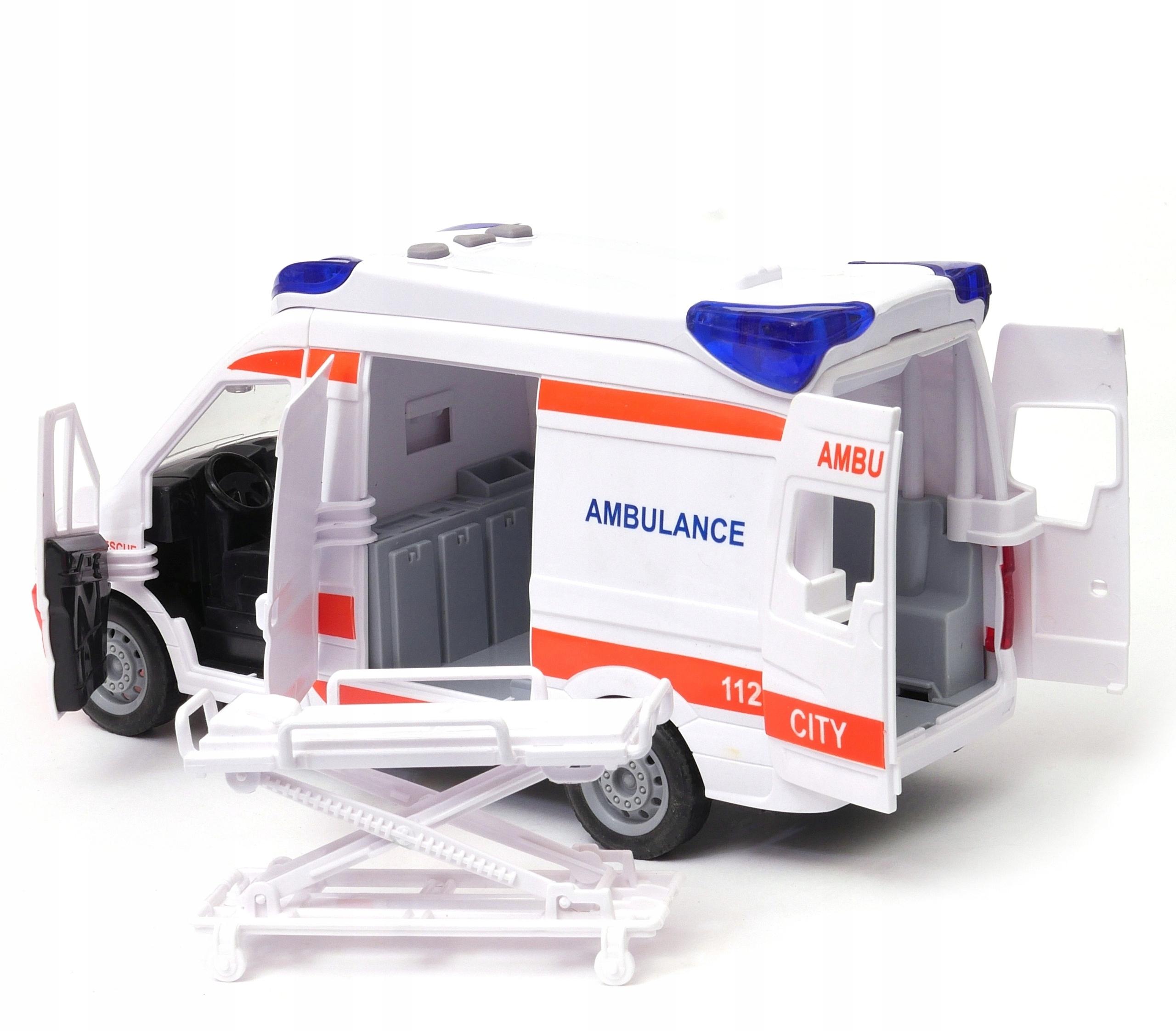sanitný automobil NOSIČ nosidlá znie otvorene