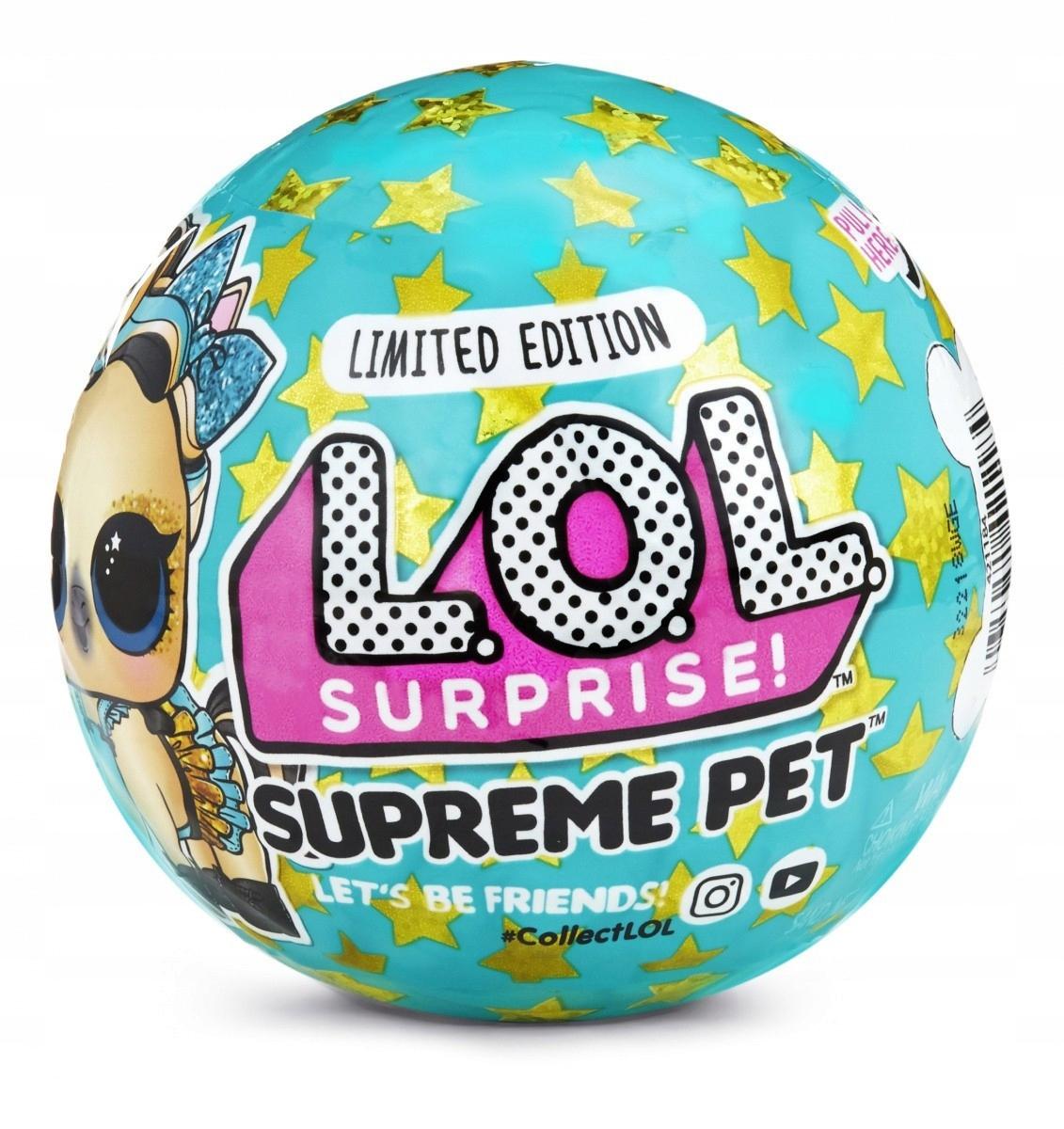 Čísla L.O.L. Surprise Pets Supreme limitovaná edícia