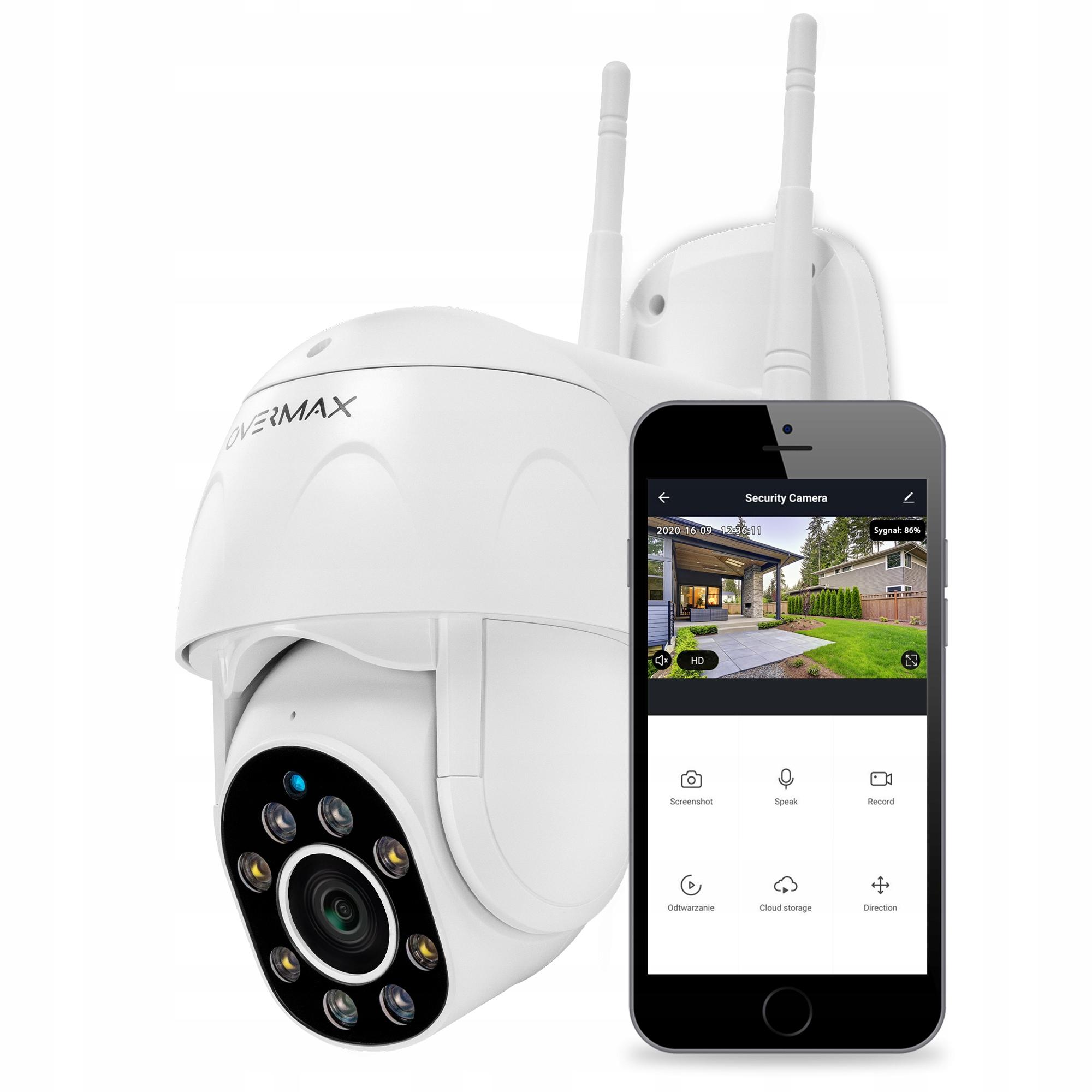 Kamera Zewnętrzna Obrotowa Ip Wifi Full Hd 4x Zoom