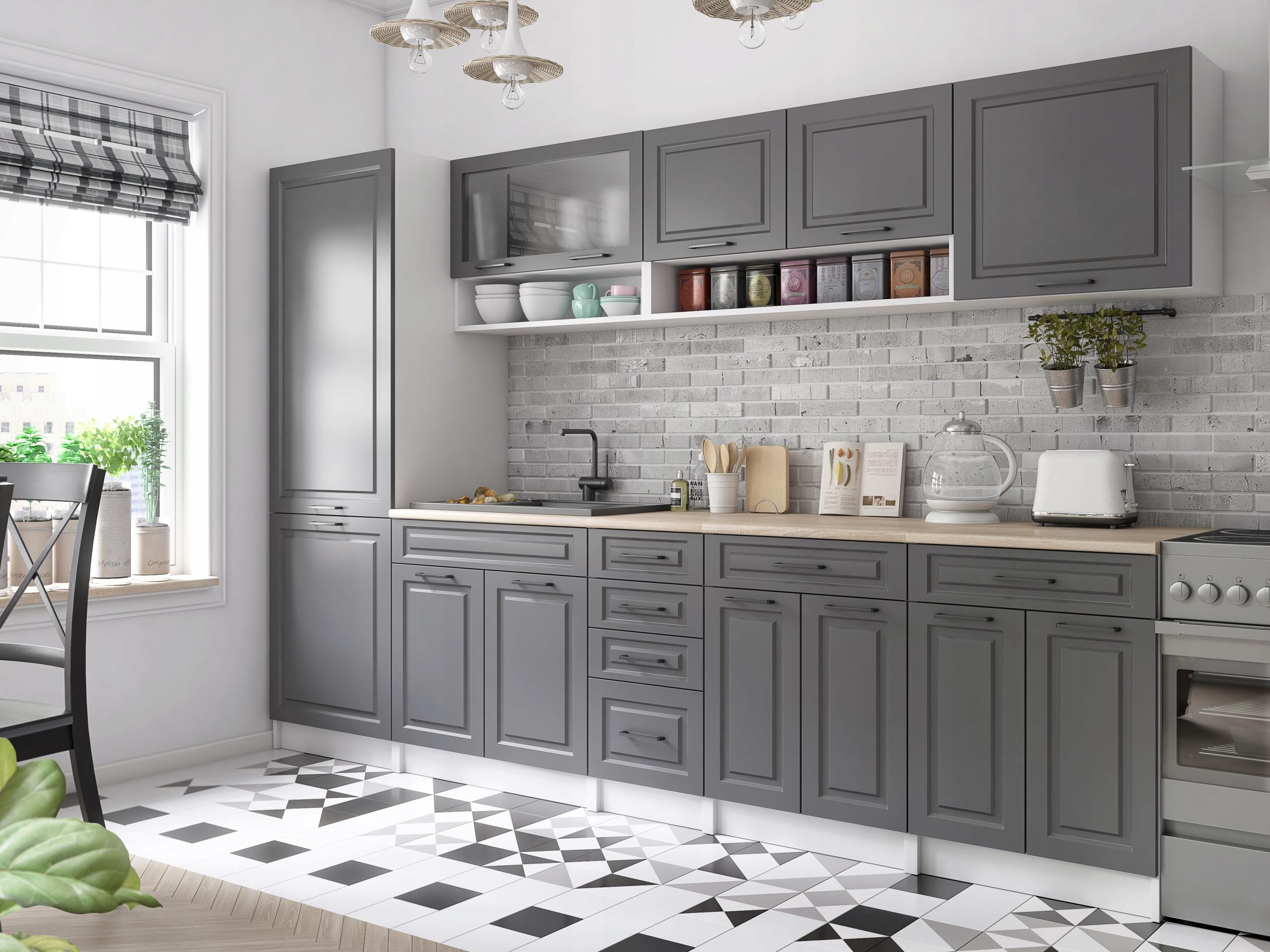 Kuchnia BIRGID meble kuchenne szafki 3,0 m 300 cm