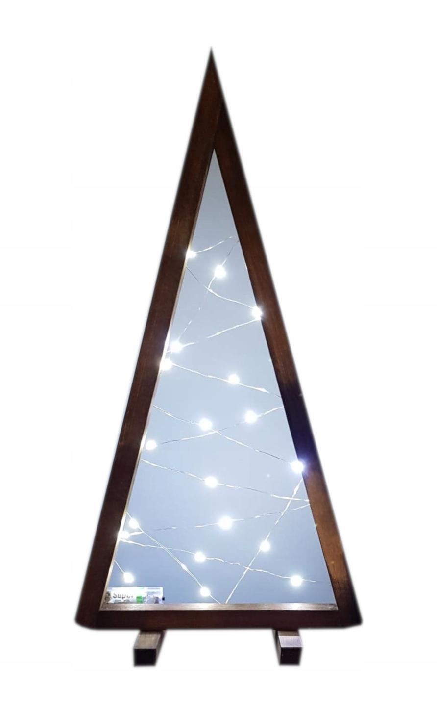 Drevený vianočný stromček, 20 LED svetiel, 55 cm
