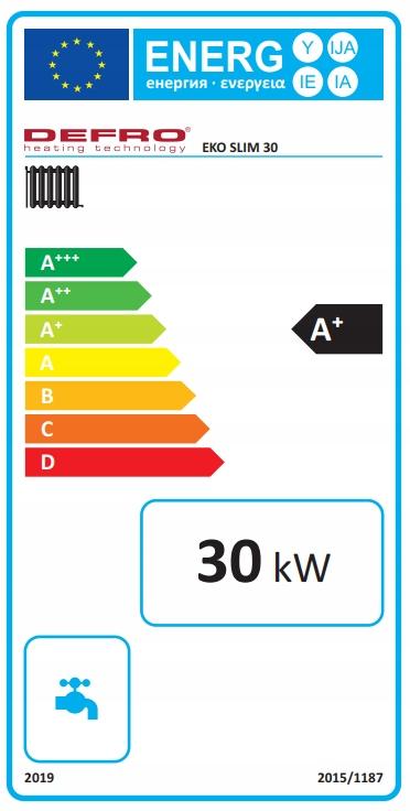 KOCIOŁ DEFRO EKO SLIM 30 kW ECODESIGN 5 KLASA Kod produktu KCO-ES-30