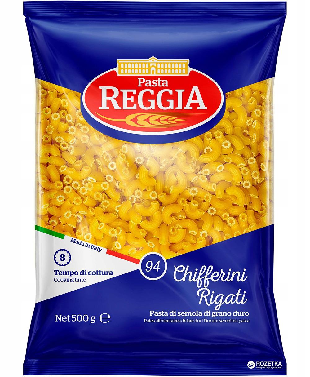 CHIFFERINI RIGATI PASTA 500g Колено Reggia