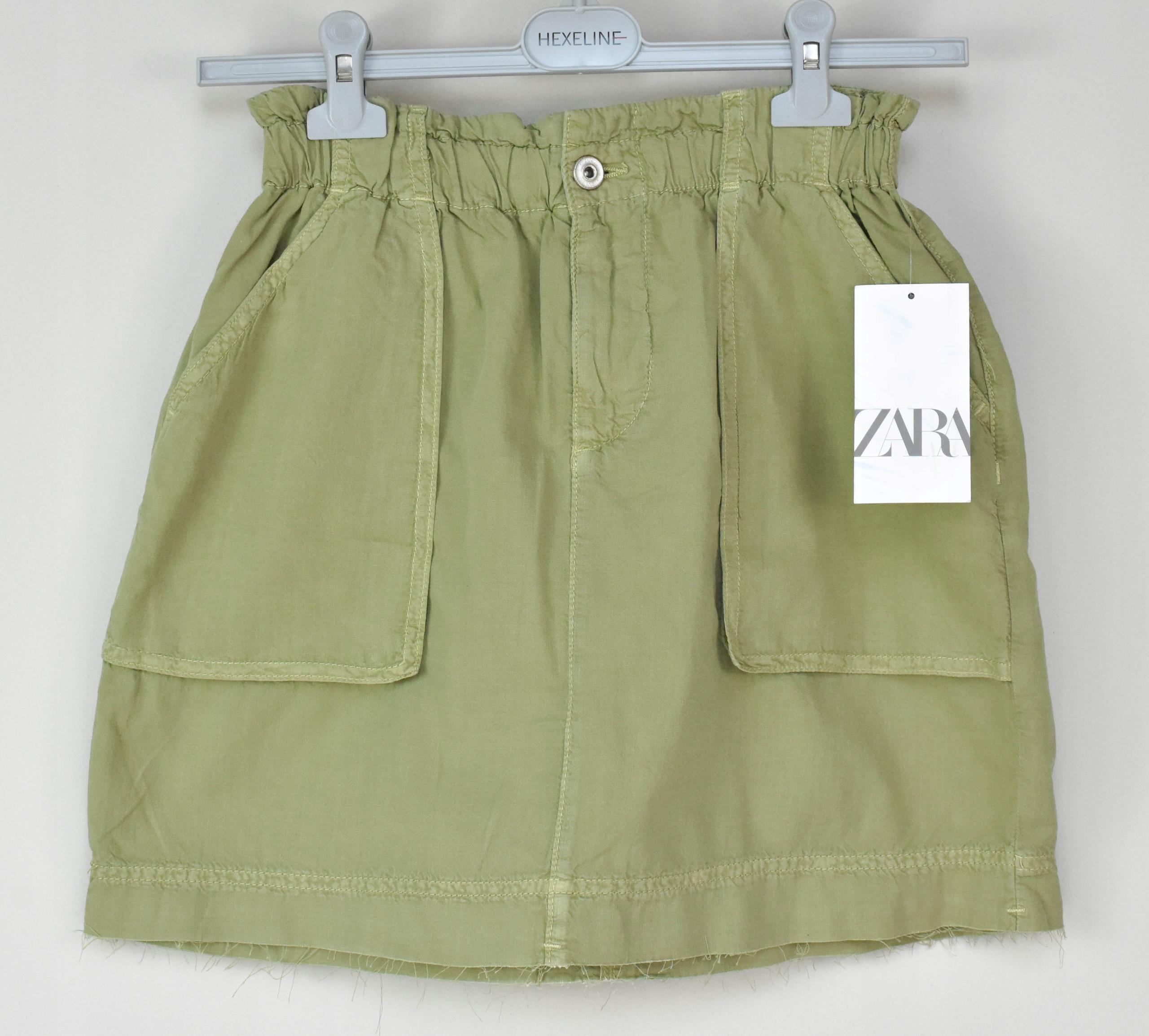 Mini sukňa ZARA cargo khaki retro M 38