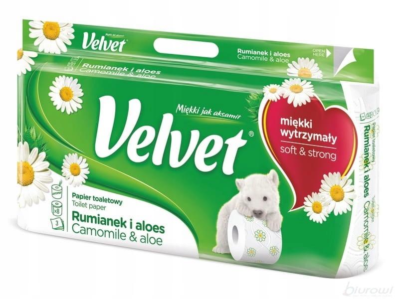 Туалетная бумага Velvet 3 wastwy РОМАШКИ 8 рулонов
