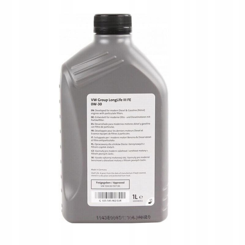 Oryginalny Olej Vw Longlife 0W30 504.00/507.00 1L 3