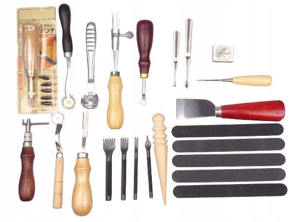 Zestaw rzemieślniczy do obróbki skóry narzędzia