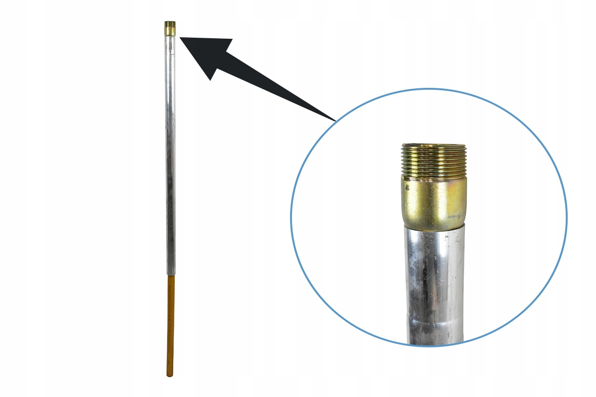 Pripojenie stĺpcov Priblížte sa plyn DN63 Thread Zew 2