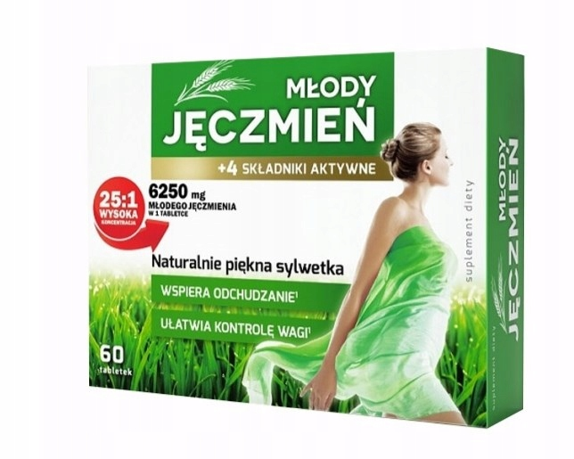 Młody jęczmień 60 tabletek ODCHUDZANIE DETOX