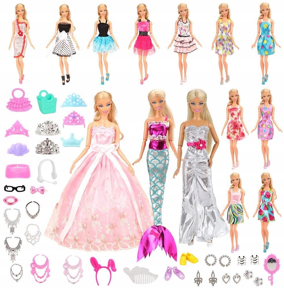 Oblečenie Šaty Topánky pre bábiky 30 CM (55 ks) 3+