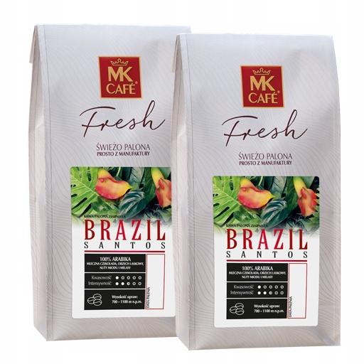 Świeżo palona kawa ziarnista MK Fresh Brazil 2x1kg
