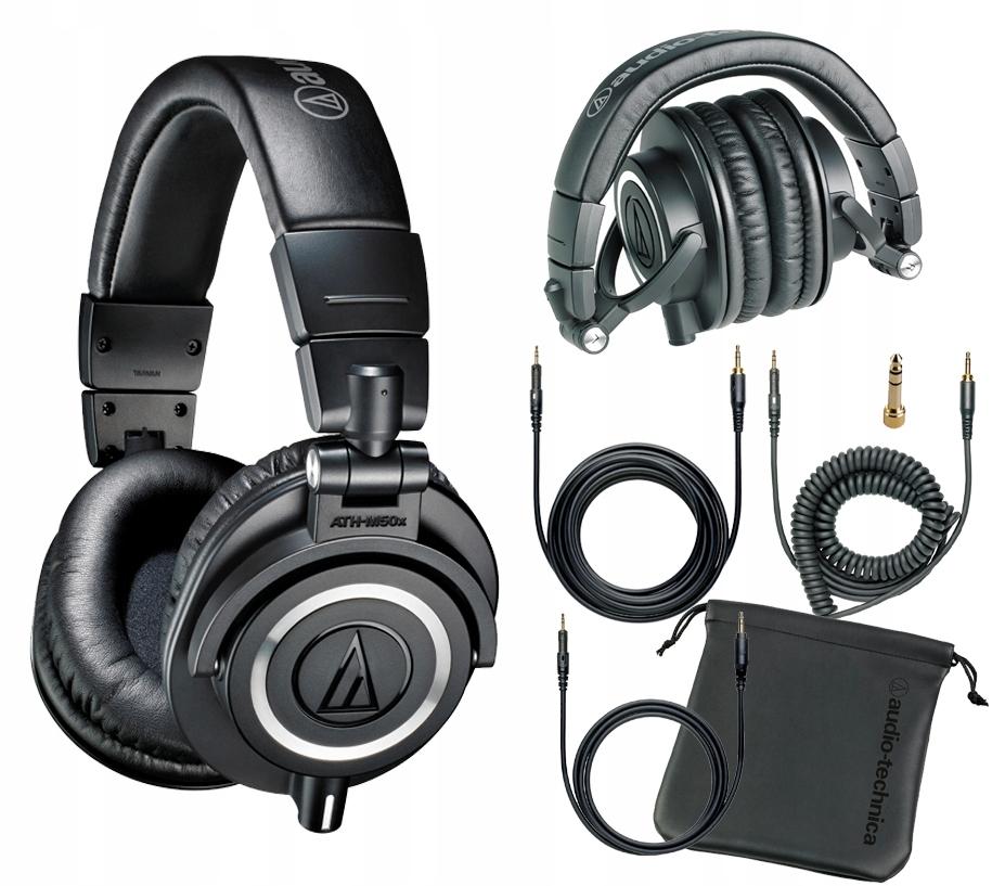 AUDIO-TECHNICA ATH-M50X Słuchawki zamknięte + AKC