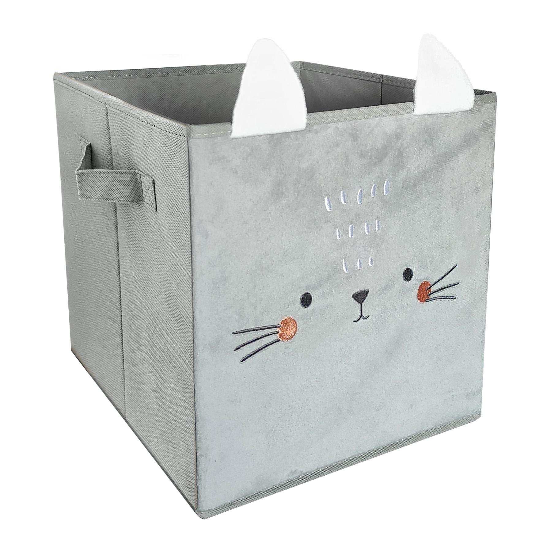 Корзина контейнер-ящик для текстильной игрушки для кошек