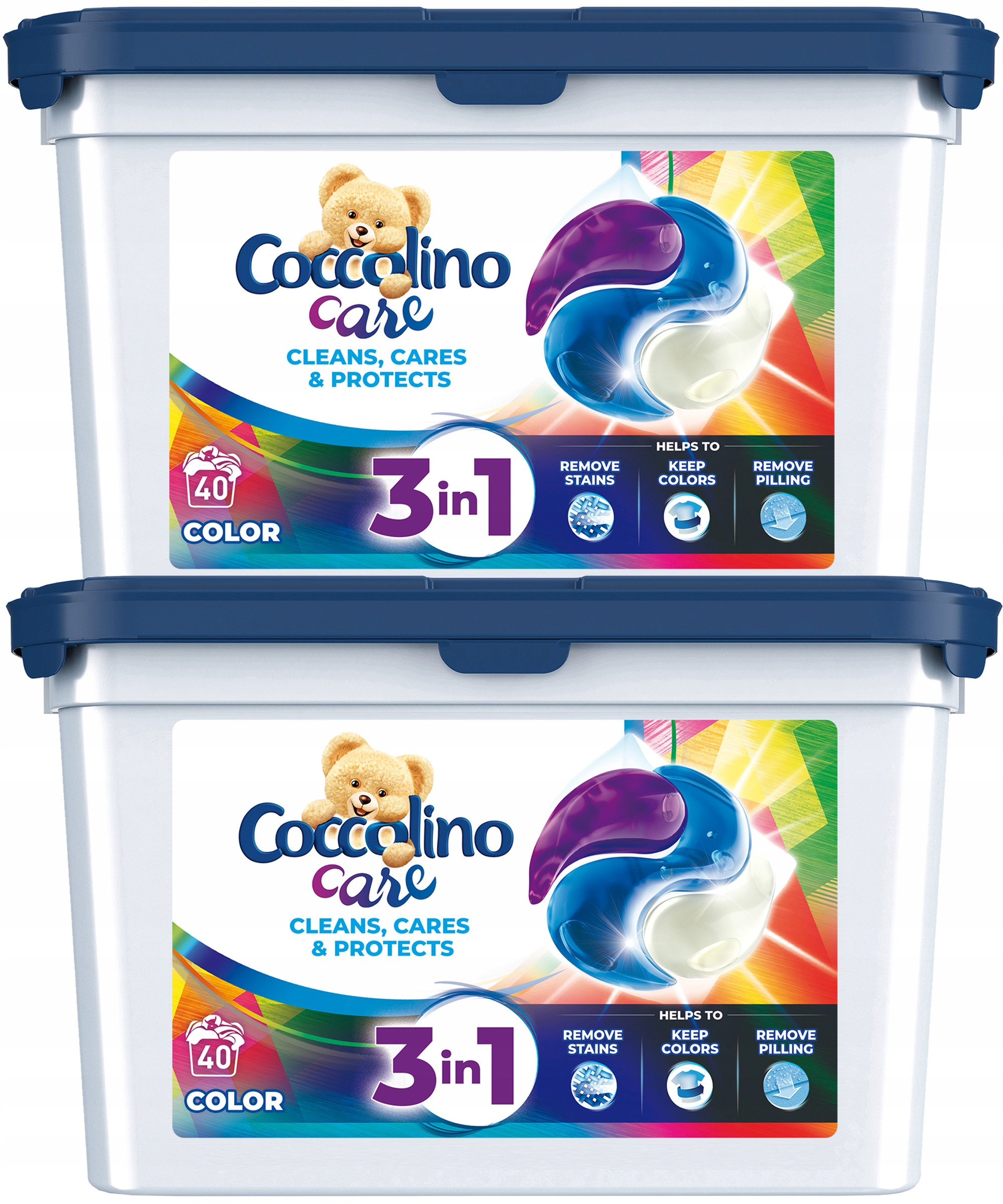 COCCOLINO CARE COLOR WASH КАПСУЛЫ COLOR 80 ШТ.